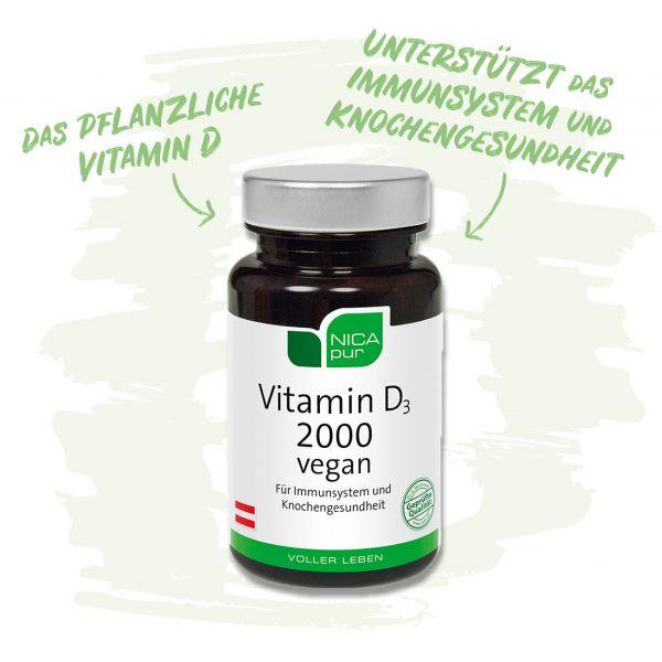 Vitamin D3 2000 - pflanzliches Vitamin D