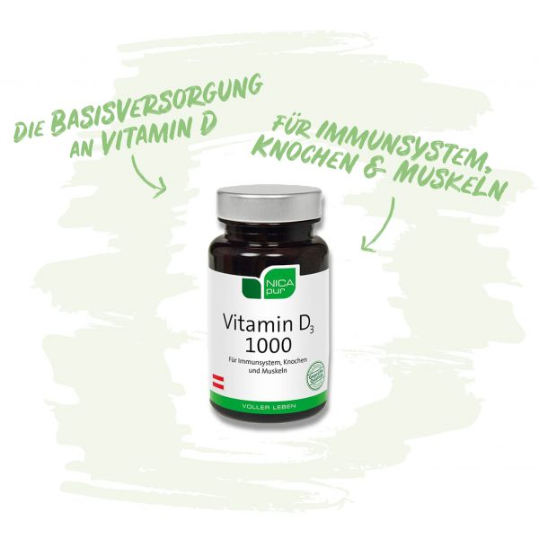 Vitamin D3 1000 fürs Immunsystem