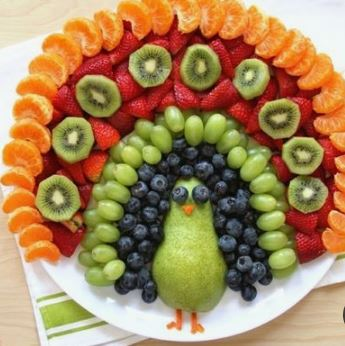 Kreativer Obstpfau