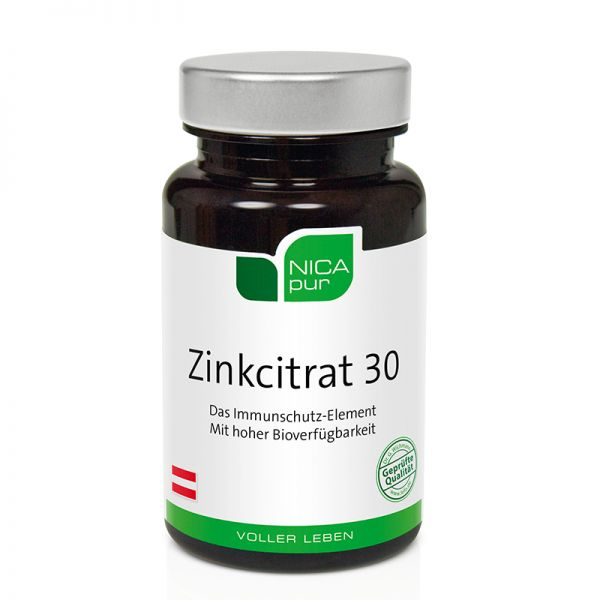 Zinkcitrat 30 - Immunschutz - Nicapur