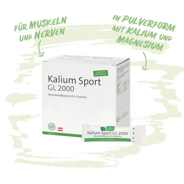 Kalium Sport GL 2000 - Pulver für Muskeln und Nerven