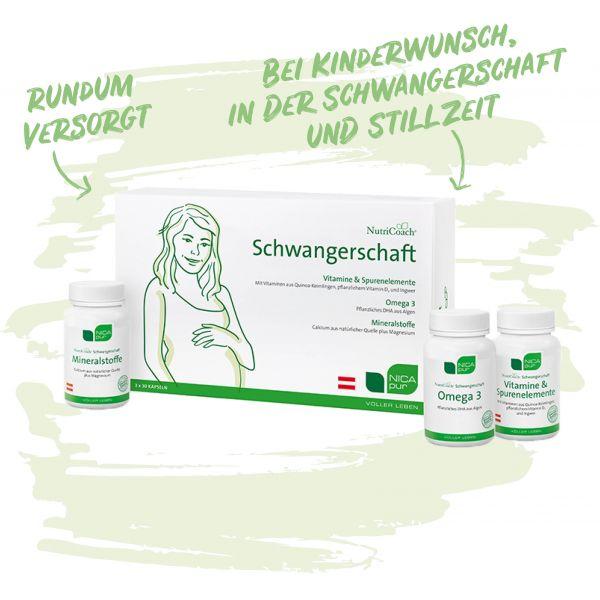 Vitamine für Schwangerschaft und Stllzeit