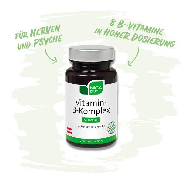 Vitamin B Komplex für Nerven und Psyche