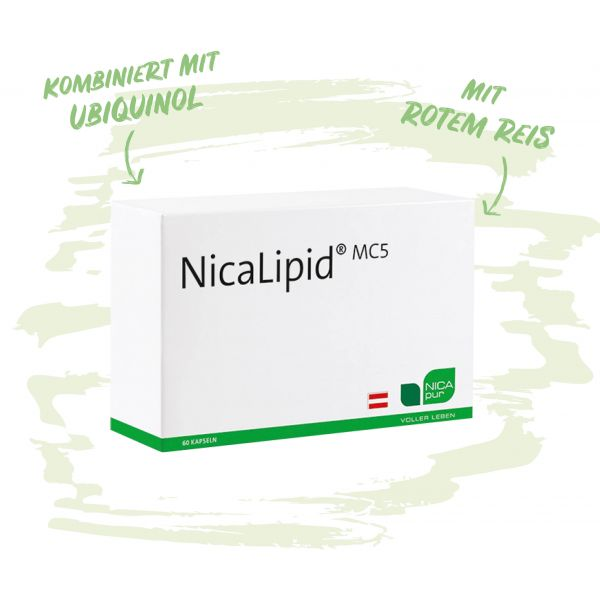 NicaLipid MC5 mit Ubiquinol und rotem Reis